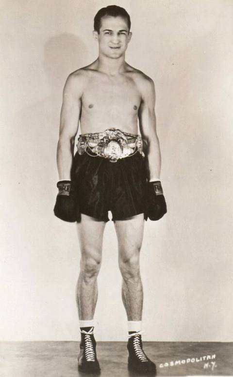 Fritzie Zivic boxing welterweight champ invited by famous inventor